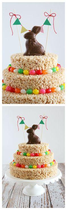 Easter Rice Krispies Treat Cake | Easter Treats