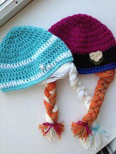 Lucy birthday gift: Crochet Frozen Anna and Elsa inspired by KARASKREATIONSbykara