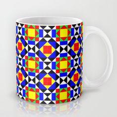 Mediterranean geometry Mug by - $15.00