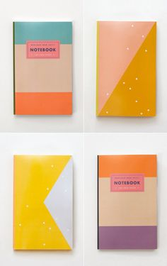 Colour blocked notebooks and planners by Julia Kostreva