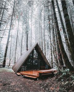 The iconic A-frame style cabins are back in the spotlight and it's not hard to understand why! The same minimalist simplistic lifestyle that has been attracting us to tiny-houses applies to the cla…
