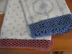 tatted lace edging trim for towels or tablecloth frivolite encaje