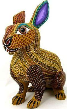 I bought this one on eBay! OAXACAN-wood-carving-RABBIT-by-ANGEL-RAMIREZ-Oaxaca-Alebrije