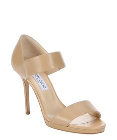 nude leather 'Alana' strappy sandals
