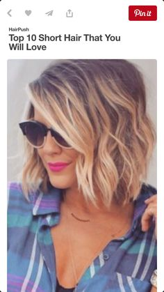 Baylayage short hair bob lob messy curl beach wave Captiva ...