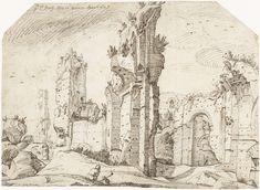 Gerard ter Borch (I) | Ruïnes van de Thermen van Caracalla, Rome, Gerard ter Borch (I), 1607 |