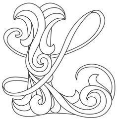 Letter Perfect - Letter L design (UTH7603) from UrbanThreads.com