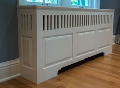radiator cover -- Give it cottage/shaker look.