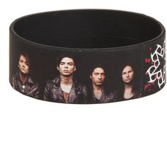 Black Veil Brides Group Photo Rubber Bracelet Hot Topic ($15) ❤ liked on Polyvore featuring jewelry, bracelets, bridal jewellery, bridal jewelry, rubber bangles, bridal bangles and bride jewelry
