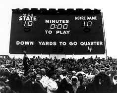 The Game of the Century - Michigan State 10, Notre Dame 10, 1966 Picture at Michigan State Spartan Photos
