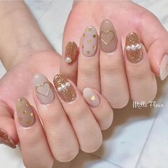 30 ideas which nail polish to choose - My Nails Pretty Nail Art, Cute Nail Art, Cute Acrylic Nails, Cute Nails, Pearl Nail Art, Pearl Nails, Stylish Nails, Trendy Nails, Girly