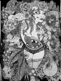misspyibs, the fool tarot card #art#illustration#tattoos#tattooedgirls#tattooedlegs#tarot#blackandwhite