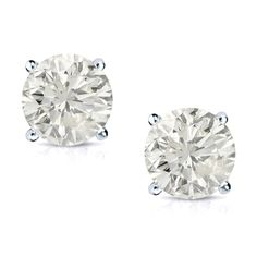 Auriya 14k Gold 3/4ct TDW Clarity-enhanced Diamond Stud Earrings (J-K, SI1-SI2) (J-K, SI1-SI2 - Yellow Gold), Women's