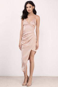 Hope Satin Cami V-Neck Wrap Dress  at Tobi.com #shoptobi