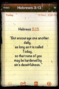 Hebrews 3:13