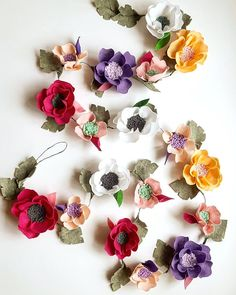 A new felt flower garland's listed at my Etsy shop
