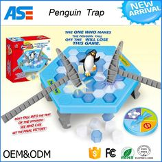 Top Penguin Trap Ice breaker Game Save Penguin on Ice Family Early Educational Toys for kids