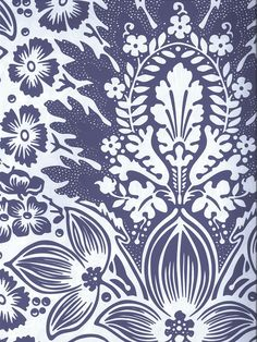 10% off all purple wallpapers through the month of October. Purple and White Damask Wallpaper | AmericanBlinds.com