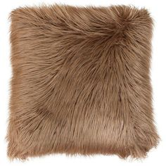 Thro By Marlo Lorenz Keller Faux Fur Mongolian Pillow ($55) ❤ liked on Polyvore featuring home, home decor, throw pillows, amphora, plush throw pillows and faux fur throw pillow