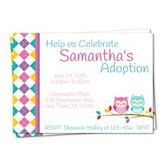 I created this adoption announcement adoption party invite for the