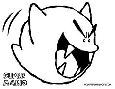 all mario characters coloring pages 126_super_mario_coloring_ghost_at coloring pages book for