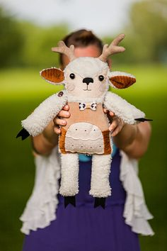Otto deer soft art  toy by  WassupbrothersMADE by wassupbrothers, $120.00