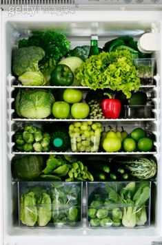 A green fridge