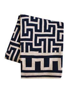 greek key throw blanket by highstreet market... Pretty