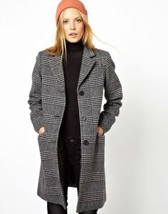 One mono check longline coat will go with everything! Cheap Fashion, Latest Fashion Clothes, Fashion Looks, Winter Coats Women, Coats For Women, Beautiful Outfits, Cool Outfits, Beautiful Clothes, Mode Mantel