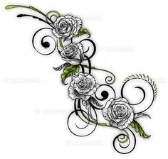 SBink White Rose Vine ❥❥❥ https://tattoosk.com/rose ...