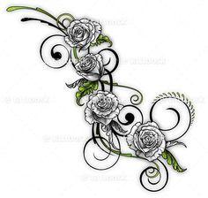 SBink White Rose Vine ❥❥❥ https://tattoosk.com/rose ...