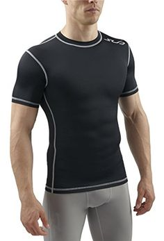 852176184 Sub Sports Mens Short Sleeve Compression Top T-Shirt Base Layer Crew Neck  Vest