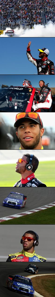 Darrell Wallace, Jr. (born Oct 8, 1993 in Mobile, Alabama) is an African-American prof'l stock car racing driver. The son of a white father and African-American mother. He started racing in the Bandolero & Legends car racing series at age 9; he often had to deal with racism among other competitors. 2005, he won 35 of the Bandolero Series' 48 races; in 2008 he became the youngest driver to win at Franklin County Speedway in VA.Wallace is part of NASCAR's Drive for Diversity program.