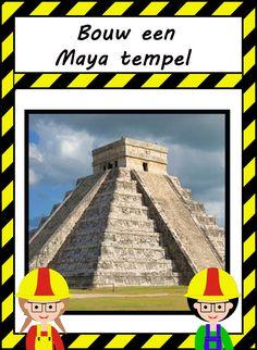 Bouw een Maya tempel Engineering, Mexico, Around The Worlds, Teaching, Flat Stanley, Building, Schools, Temples, Kunst