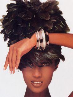 Joyce France, S/S 1988 Model : Iman