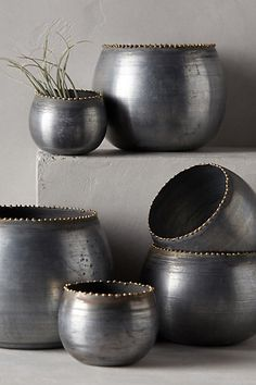 Brass Droplet Bowls - anthropologie.com