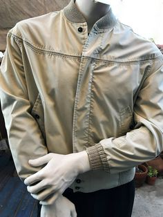 MacMurray of California Men's Chocolatre Brown Jacket, Vintage 70's Bomber Jacket, Zipper Front Jacket Size Medium, Made in the USA