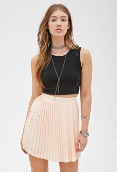 Accordion Pleated Skirt | FOREVER21 - 2000137394