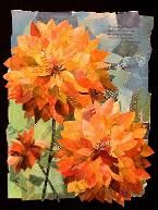 Eileen Downes artist collage flowers colorful torn paper painting