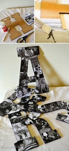 Top 10 Handmade Gifts using photos - These gifts ideas are perfect for Christmas gifts, birthday presents, Mother's Day Gifts and Anniversary Gifts. These handmade gift ideas are super easy to make, (Diy Photo Gifts) Fun Crafts, Diy And Crafts, Easy Dorm Crafts, Recycled Crafts, Creative Crafts, Decor Crafts, Home Decor, Photo Deco, Craft Ideas