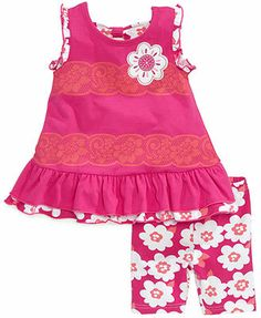 Nannette Baby Girls' 2-Piece Top & Shorts Set
