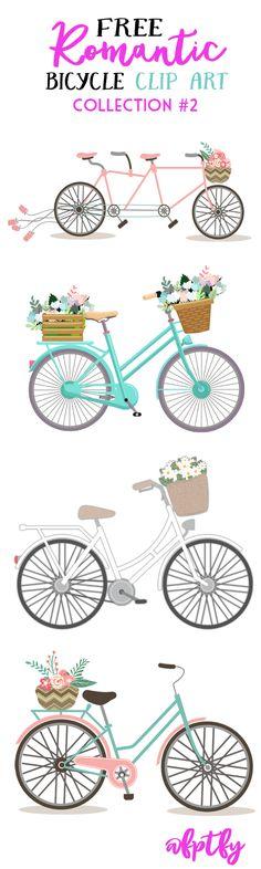 free-romantic-bicycle-clip-art-set2-fptfy-a
