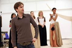 David Tennant during rehearsals of Love's Labour's Lost.