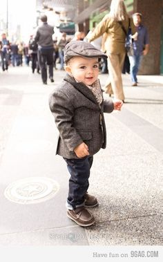 That is one dapper baby