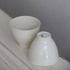 Filigrane Schale aus hauchdünnem Porzellan. Hergestellt in Deutschland von der Manufaktur Eiden Porzellan.