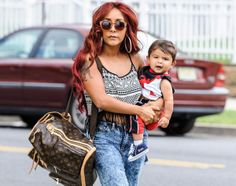 Wednesday August Nicole 'Snooki' Polizzi keeps her son Lorenzo LaValle close as the two head to a DNA testing clinic in Northern New Jersey. Cute Celebrities, Celebs, Dna Paternity Testing, Nicole Polizzi, Nicole Snooki, Ancestry Dna, Love You Baby, Celebrity Kids, Dna Test