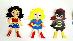 Girl Superhero Banner - Superhero Party Banner - Superhero Garland by CraftyCue on Etsy