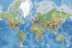 World Map - Wall Mural & Photo Wallpaper - Photowall World Map Wallpaper, Photo Wallpaper, Wall Wallpaper, Interior Wallpaper, Wall Maps, Wall Mural, Detailed World Map, Wallpaper Companies, Map Background
