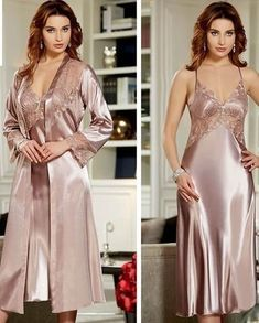 I'm straight man satin is my fetish Satin Nightie, Satin Sleepwear, Satin Lingerie, Satin Gown, Pretty Lingerie, Vintage Lingerie, Beautiful Lingerie, Satin Dresses, Nightwear