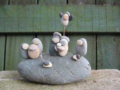 River Stone Nativity Set. $28.00, via Etsy.